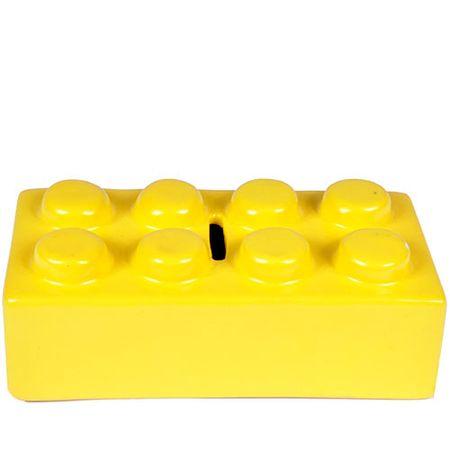 Cofrinho Peça de Lego Amarelo
