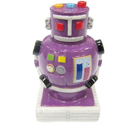 Cofrinho Robô Pote de Bala Retrô Lilás