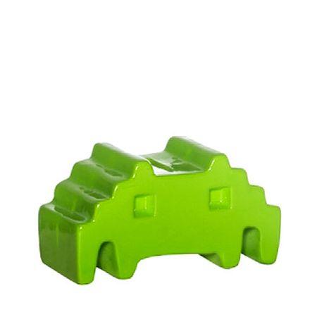 Cofrinho Space Invaders Alien Verde