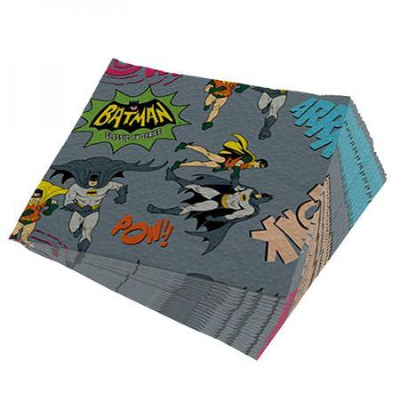 Guardanapo Batman e Robin Quadrinhos HQ Onomatopeias DC Comics