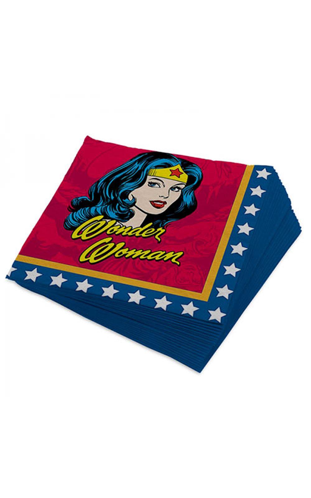 Foto 1 - Guardanapo Mulher Maravilha Quadrinhos HQ DC Comics