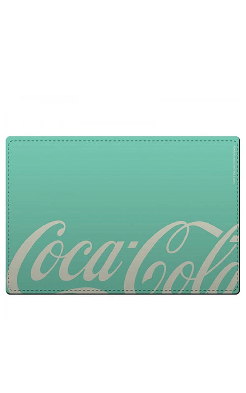 Foto 1 - Kit Jogo Americano e Porta Copos Coca Cola Moderno Verde - 4 Peças