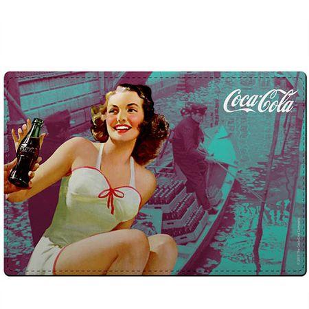 Kit Jogo Americano e Porta Copos Coca Cola Pin Up Verde - 4 peças