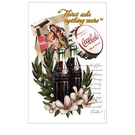 Pano de Prato Coca Cola Flores e Baunilha