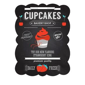 85027965-Placa-decorativa-de-metal-cupcakes