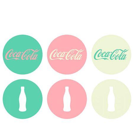 Porta Copos Coca Cola Moderno Cores - 6 peças