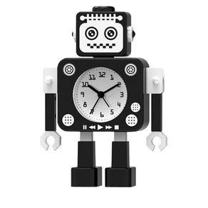 71025411-Relogio-de-mesa-robo-de-metal-preto