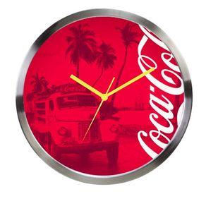 03af2906020 Relógio de Parede Coca Cola Moderno Vermelho