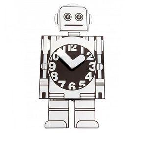 dd156ca386c Relógio de Parede Robô de Alumínio Prata