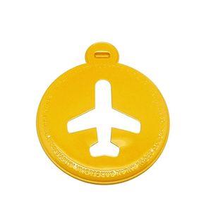 68027862-Tag-de-mala-aviao-amarelo-circular