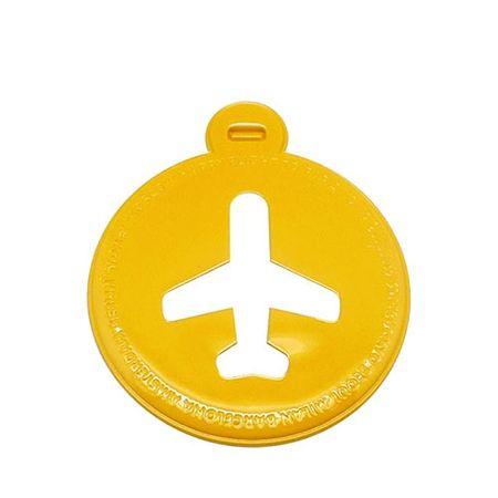Tag de Mala Avião Amarelo Circular