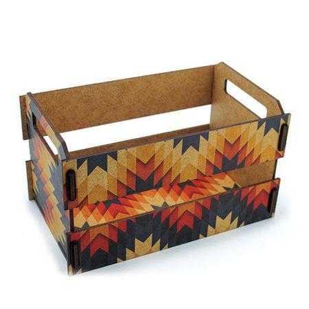 Caixa Organizadora Mini Caixote de Feira Losangos