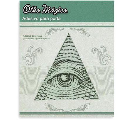 Adesivo Olho Mágico Iluminati