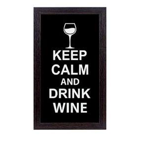 Quadro-porta-rolha-de-vinho-fique-calmo-e-beba-vinho