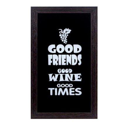 Quadro Porta Rolhas de Vinho Good Friends Good Wine Good Times