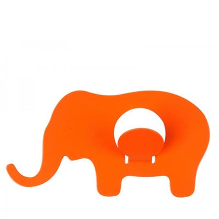 Cabideiro de Ferro Elefantinho Laranja