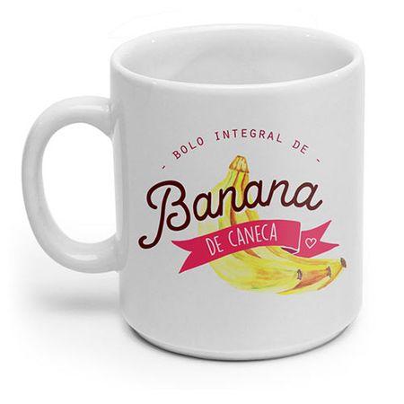 Caneca Bolo Integral de Banana com Receita