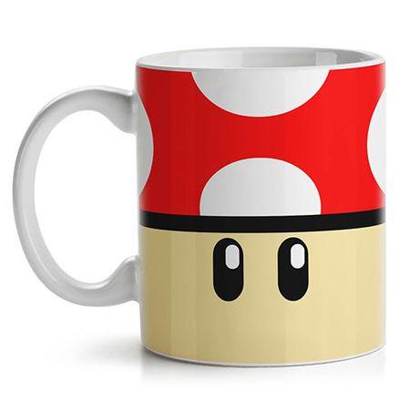 Caneca Cogumelo Vermelho Super Mario Bros