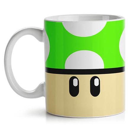 Caneca Cogumelo Verde Super Mario Bross