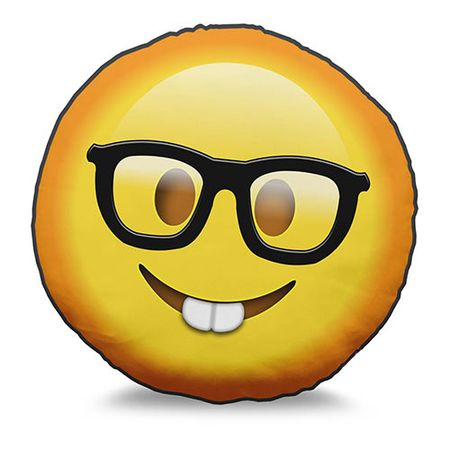 Almofada Emoji Nerd e Geek Emoticon