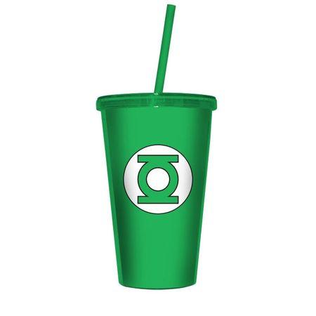 Copo com Canudo Lanterna Verde DC Comics