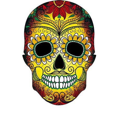 Cabideiro Caveira Mexicana Amarela