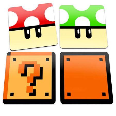 Porta Copos Blocos e Cogumelos Super Mario Bros