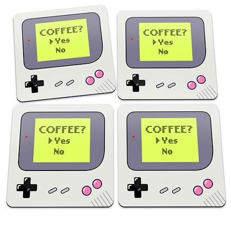 Porta Copos Game Boy Coffee Yes Joystick Café