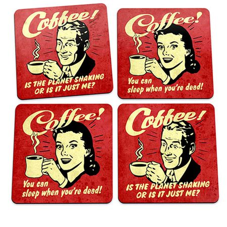 Porta Copos Coffee Addict Café Vintage Pin Up