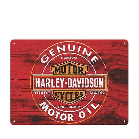 Placa Decorativa em MDF Moto Harley Davidson Genuine