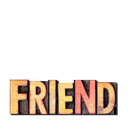 Palavras Letras em Alto Relevo Friend Amigo