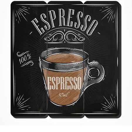 Placa Decorativa em MDF Ripado Café Expresso