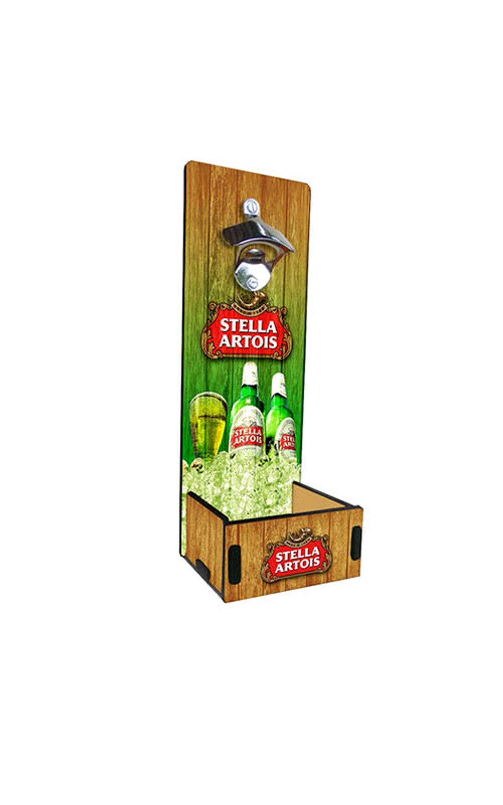 Foto 1 - Abridor de Garrafa Grande Cerveja Stella Artois