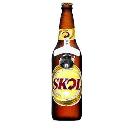 Abridor de Garrafas de Parede Cerveja Skol