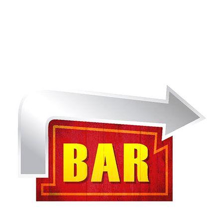 Placa Decorativa em MDF Formato Bar