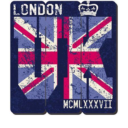 Placa Decorativa em MDF Ripado Londres London UK