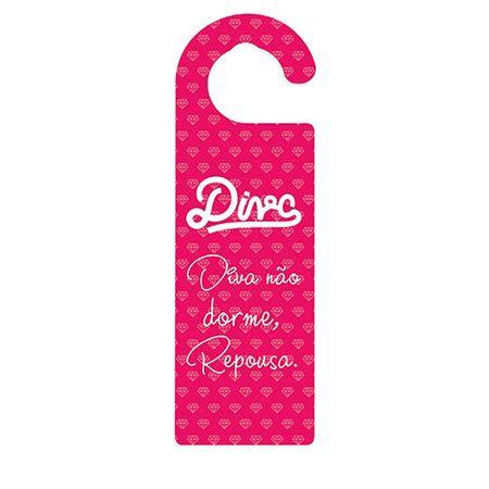 Aviso de Porta Diva Rosa Pink