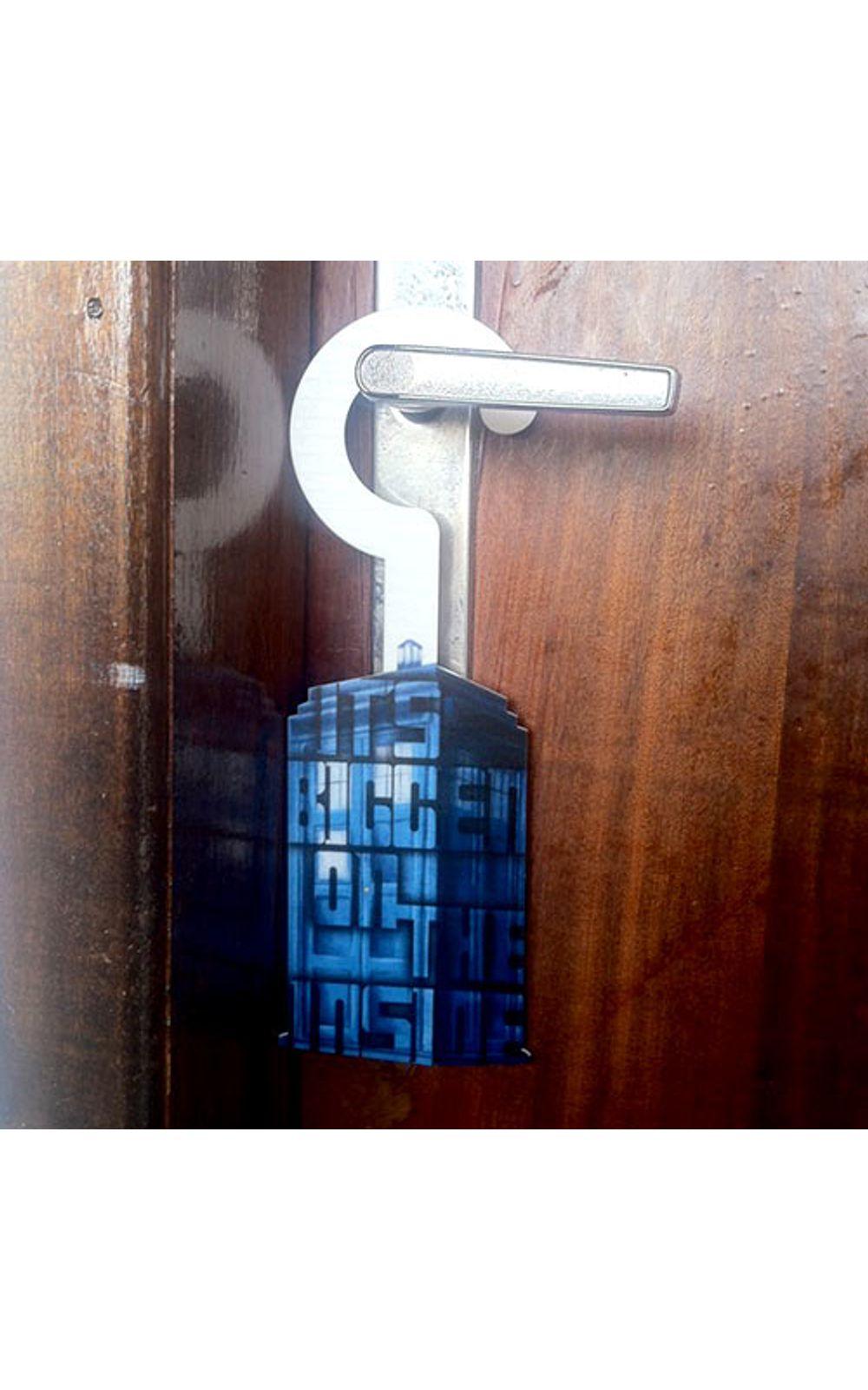 Foto 3 - Aviso de Porta Cabine Doctor Who