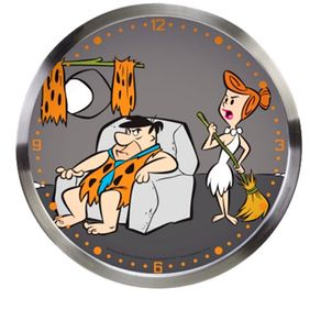 1643b2e59e6 Relogio de Parede Vilma e Fred Flintstones