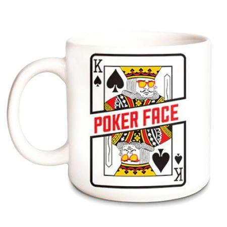 Caneca Poker Face Baralho Naipes