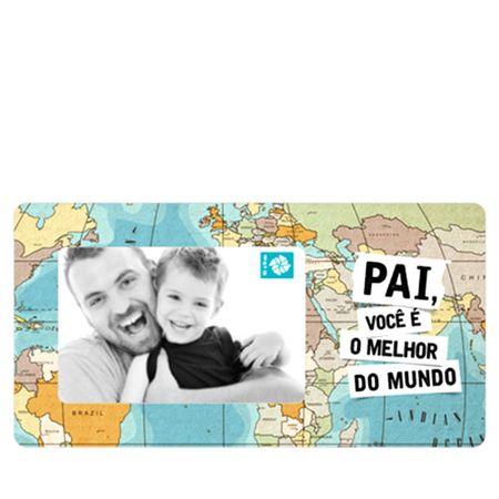 Porta Retrato em MDF Pai voce e o Melhor do Mundo Mapa