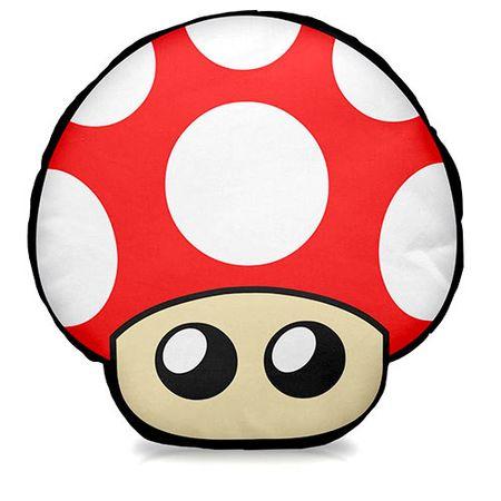Almofada Cogumelo Vermelho Super Mario Bros