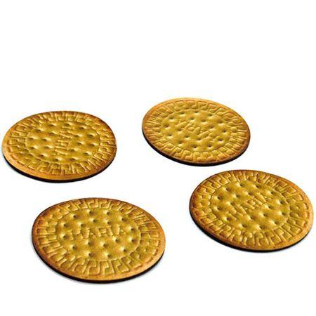 Porta Copos Biscoito Bolacha Maria Formato