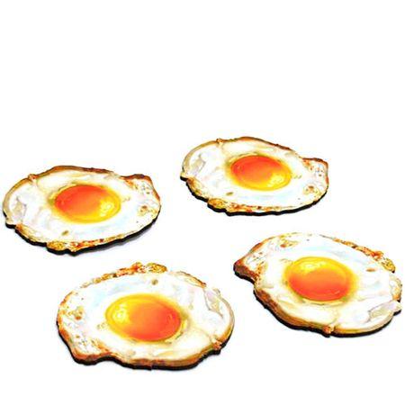 Porta Copos Ovo Frito Formato