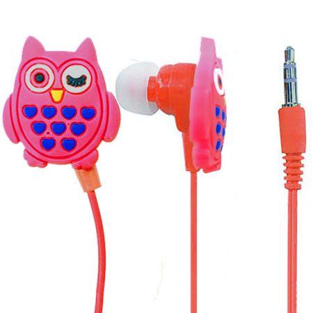 Fone de Ouvido Coruja Vermelha Formato