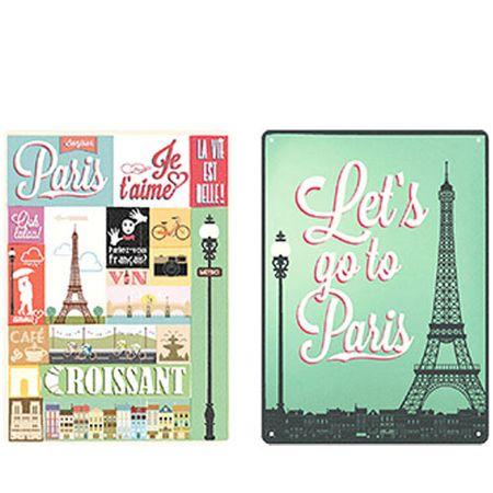 Kit Placas Decorativas em MDF Paris Torre Eiffel - 2 unidades