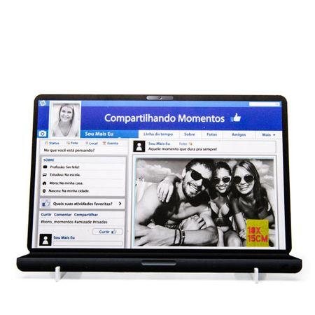 Porta Retrato Facebook Compartilhe Momentos na Rede Social