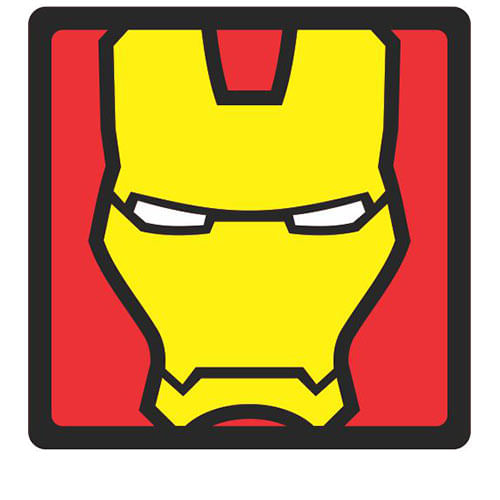 f8a74ebf94 Quadro Faces Homem de Ferro Marvel - 20x20 - Gorila Clube