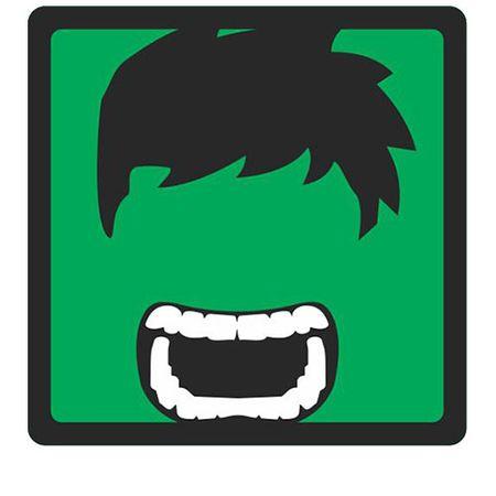 Quadro Faces Hulk Marvel - 20x20