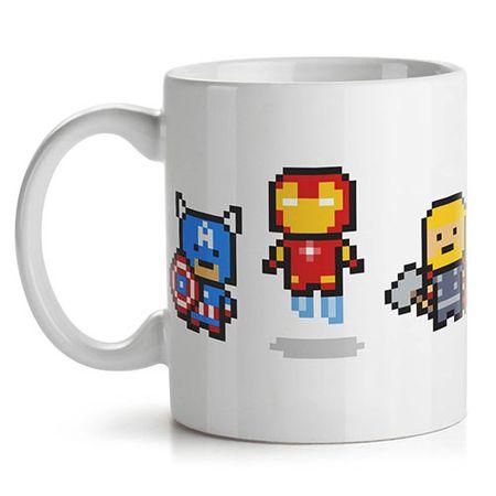 Caneca Os Vingadores Marvel Super Herois